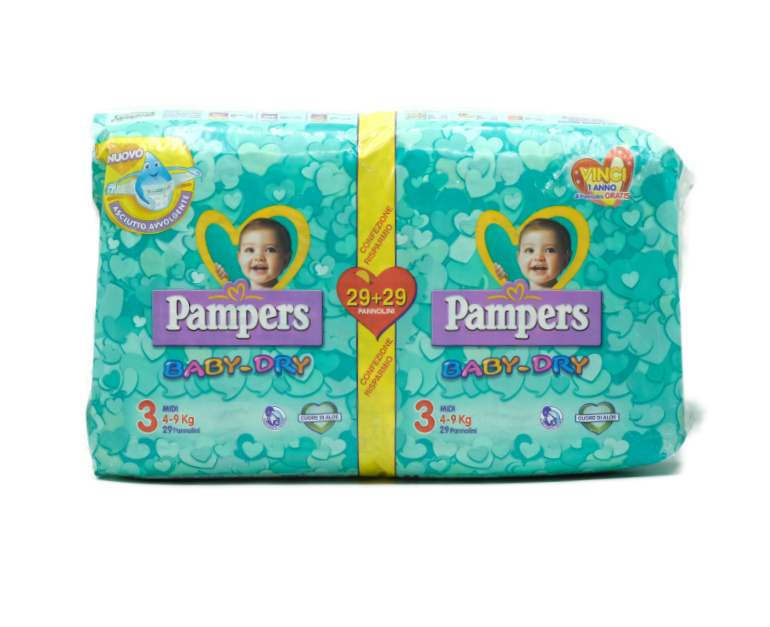 56 PAMPERS BABY DRY MIDI