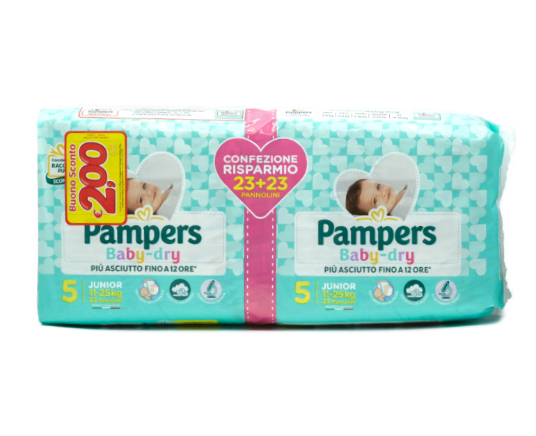 46 PAMPERS BABY DRY JUNIOR