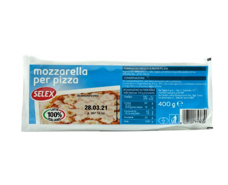 MOZZARELLA PER PIZZA SELEX