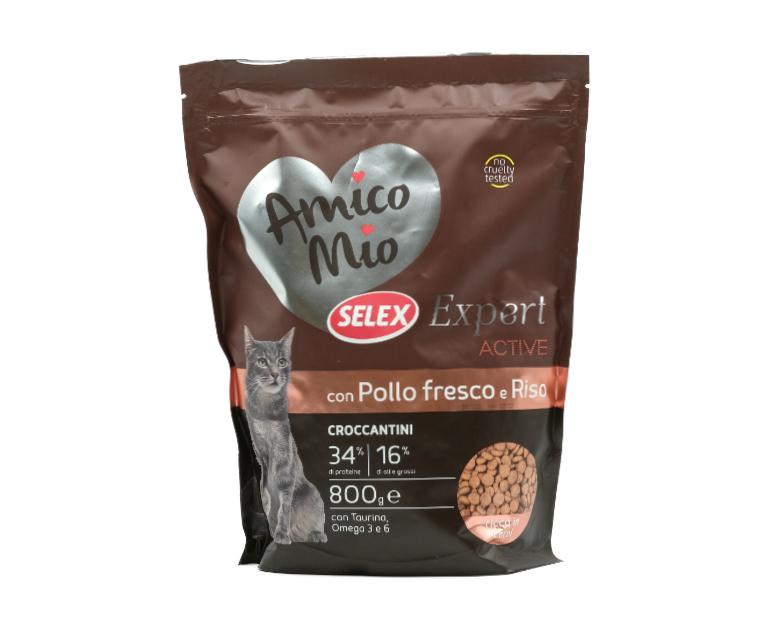 CROCC.GATTO ADULT ACTIVE POLLO-RISO AMICO MIO