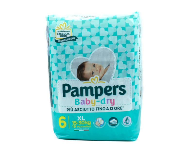 38 PAMPERS BABY DRY EXTRA LARGE